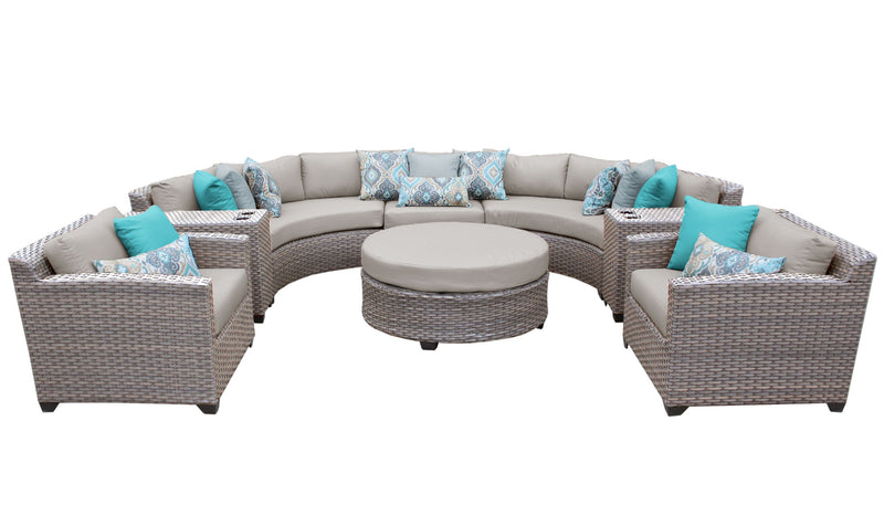 Florence 8 Piece Outdoor Wicker Patio Furniture Set 08e