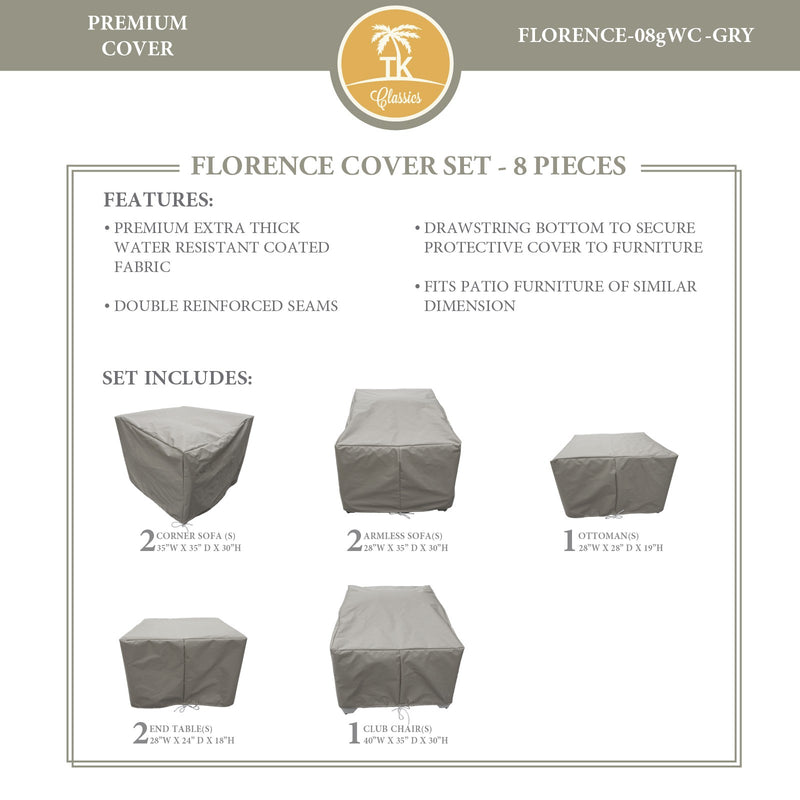 FLORENCE-08g Protective Cover Set, in Grey