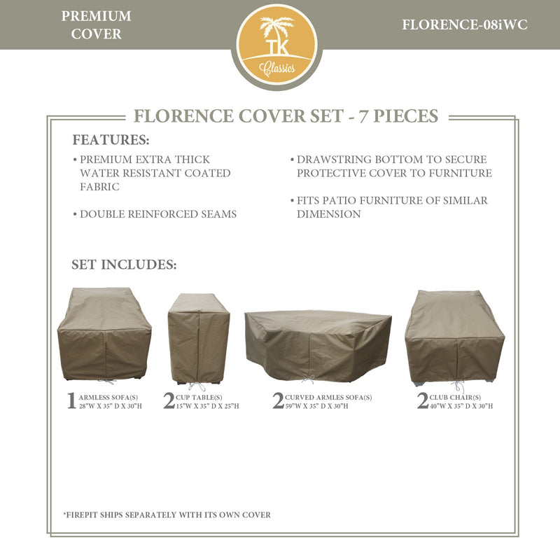 FLORENCE-08i Protective Cover Set, in Beige
