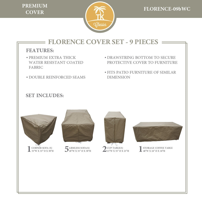 FLORENCE-09b Protective Cover Set, in Beige