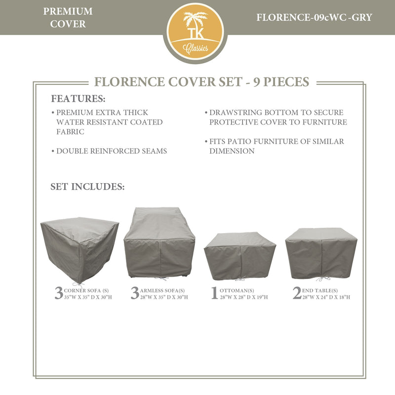 FLORENCE-09c Protective Cover Set, in Grey
