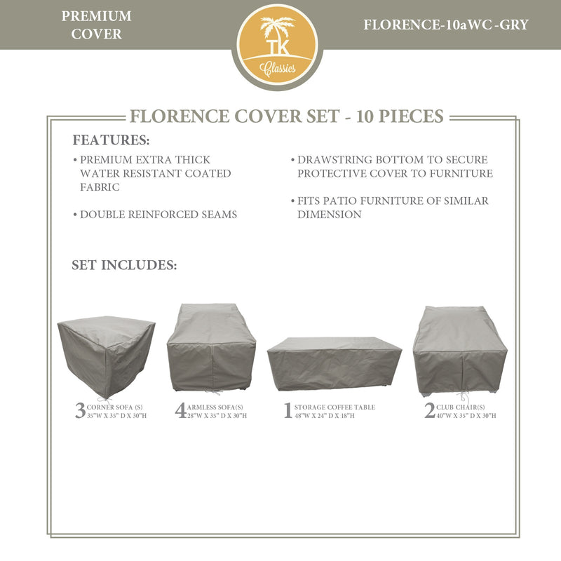FLORENCE-10a Protective Cover Set, in Grey