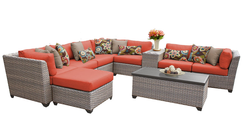 Florence 10 Piece Outdoor Wicker Patio Furniture Set 10b