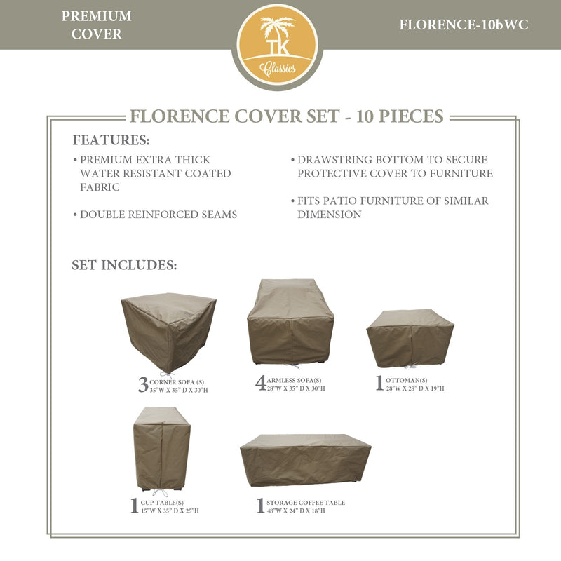 FLORENCE-10b Protective Cover Set, in Beige