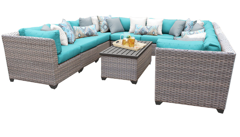 Florence 11 Piece Outdoor Wicker Patio Furniture Set 11a