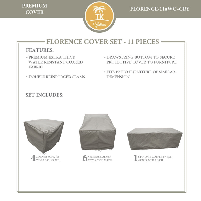 FLORENCE-11a Protective Cover Set, in Grey