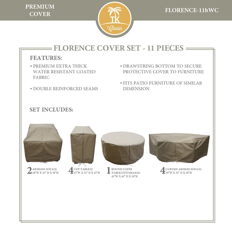 FLORENCE-11b Protective Cover Set, in Beige