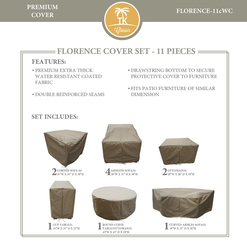 FLORENCE-11c Protective Cover Set, in Beige