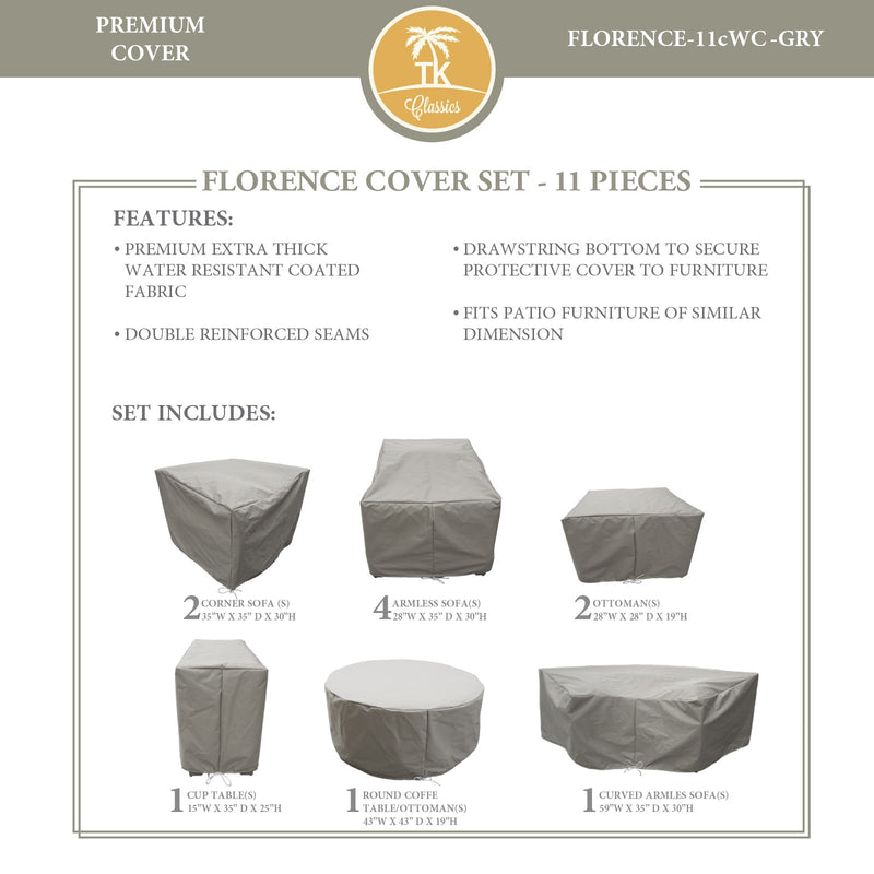 FLORENCE-11c Protective Cover Set, in Grey