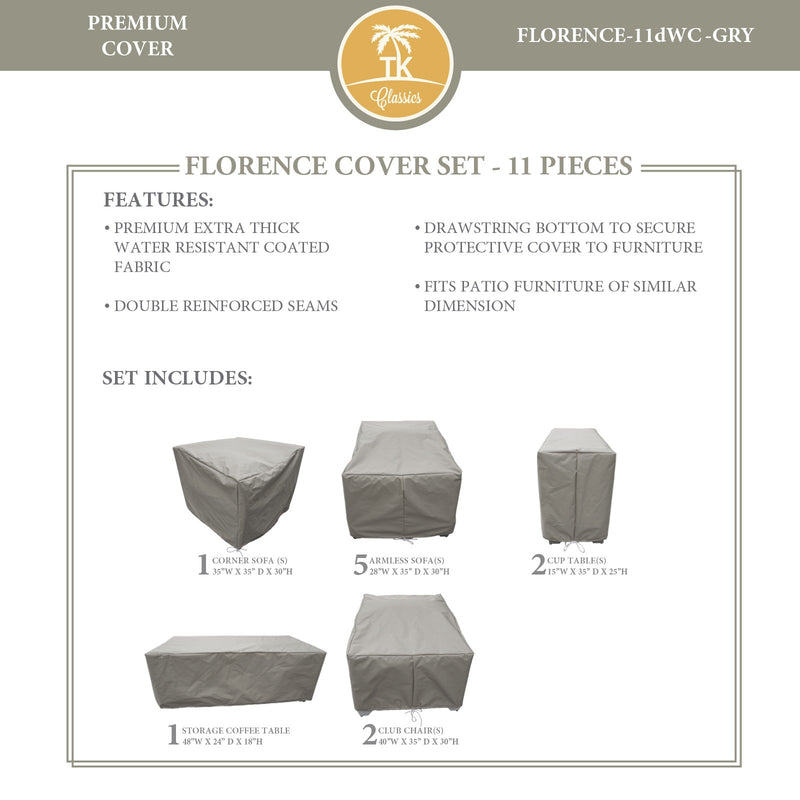 FLORENCE-11d Protective Cover Set, in Grey