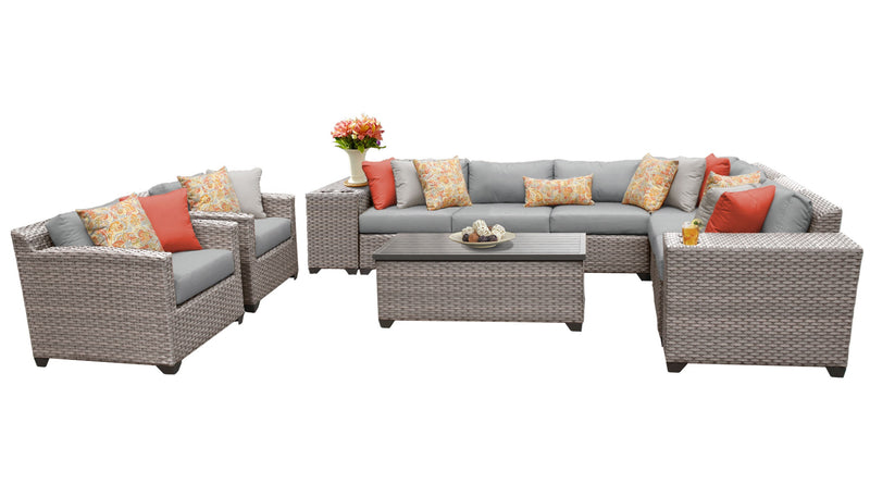 Florence 11 Piece Outdoor Wicker Patio Furniture Set 11d
