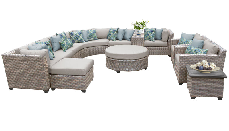 Florence 12 Piece Outdoor Wicker Patio Furniture Set 12a