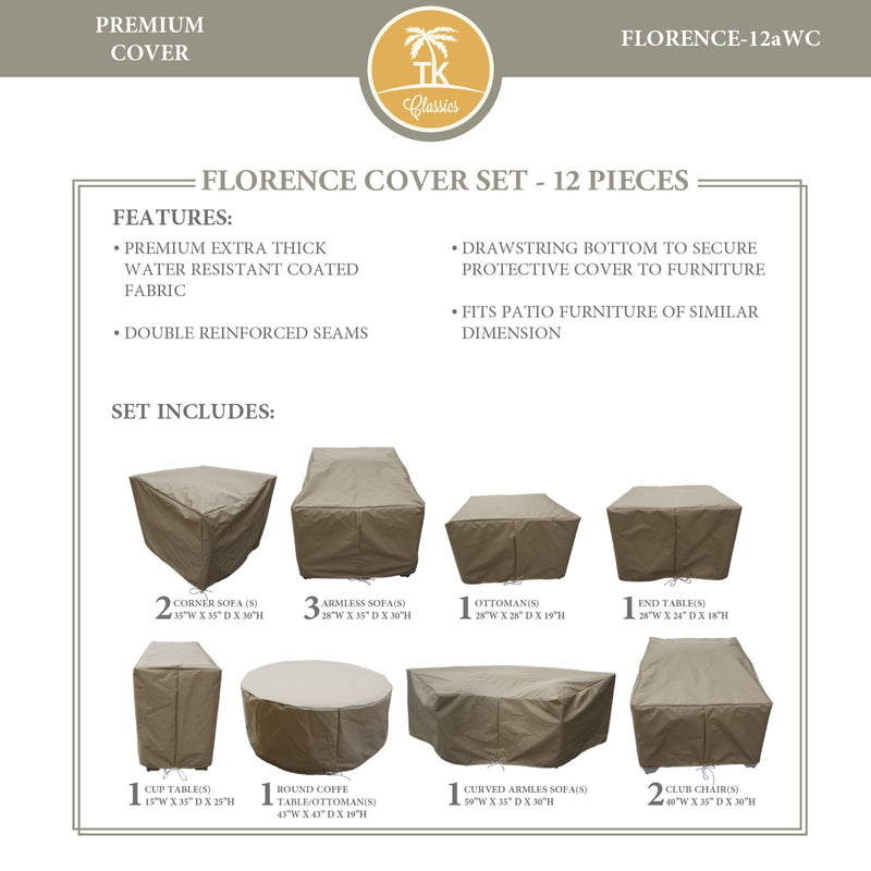 FLORENCE-12a Protective Cover Set, in Beige