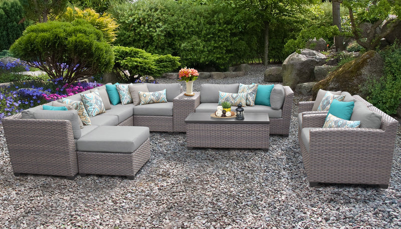 Florence 12 Piece Outdoor Wicker Patio Furniture Set 12b