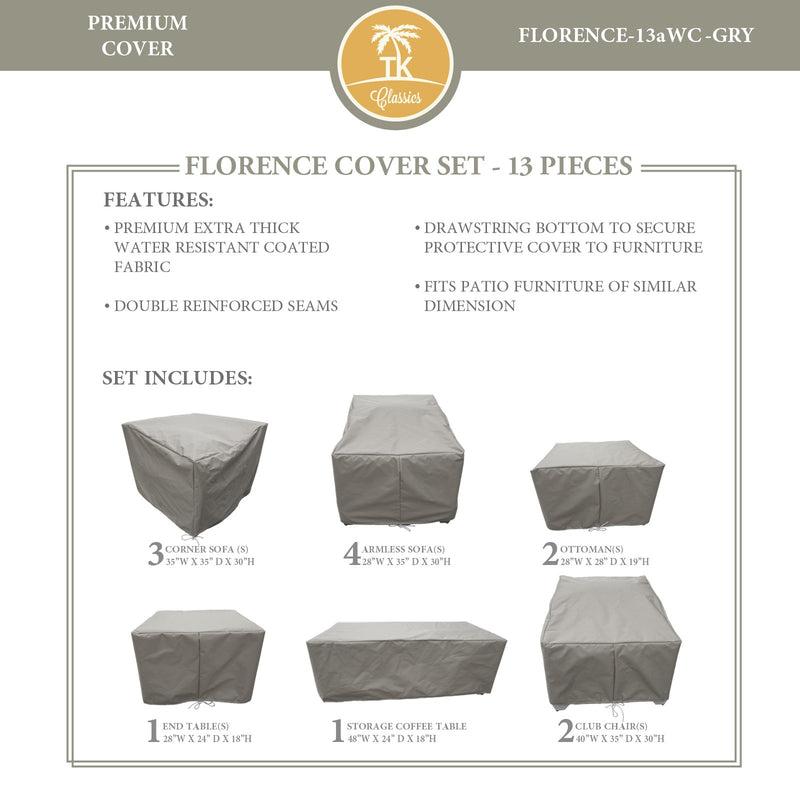 FLORENCE-13a Protective Cover Set, in Grey