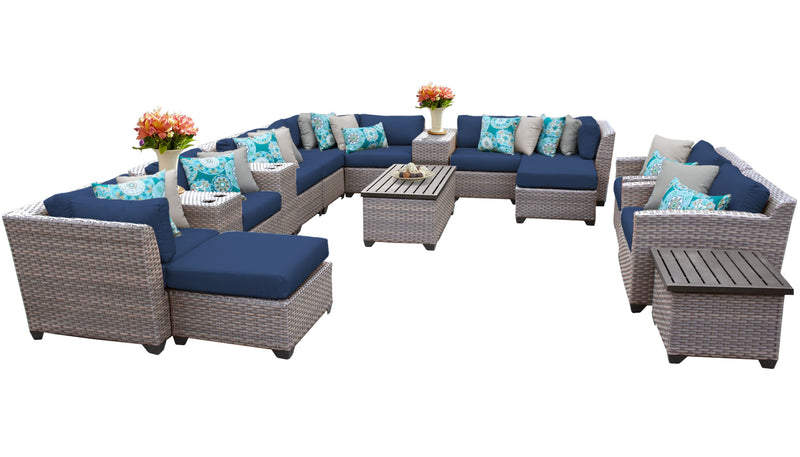 Florence 17 Piece Outdoor Wicker Patio Furniture Set 17a