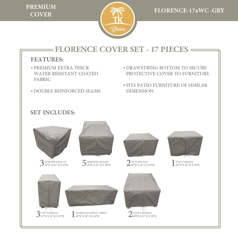 FLORENCE-17a Protective Cover Set, in Grey