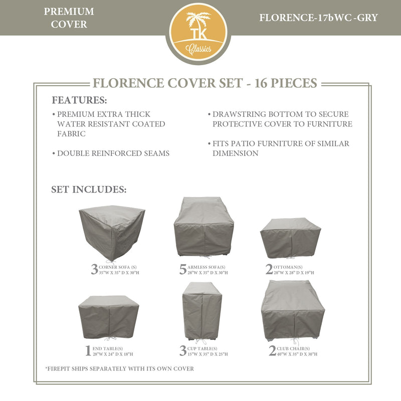FLORENCE-17b Protective Cover Set, in Grey