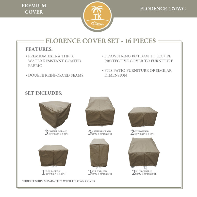 FLORENCE-17d Protective Cover Set, in Beige