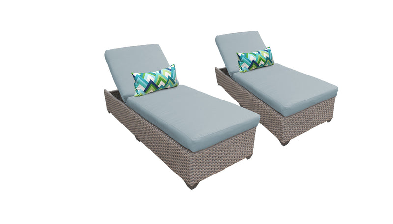 Florence Chaise Set of 2 Outdoor Wicker Patio Furniture