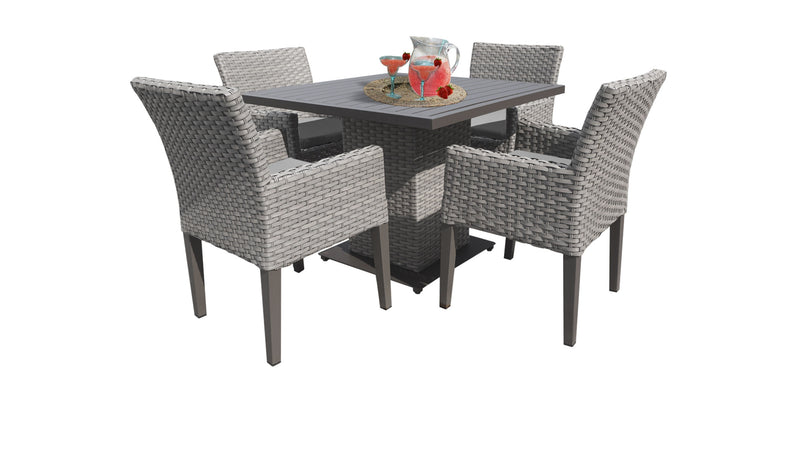 Florence Square Dining Table with 4 Chairs