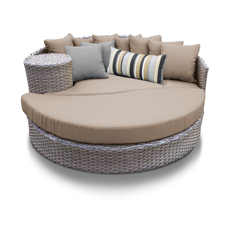 Florence Circular Sun Bed - Outdoor Wicker Patio Furniture