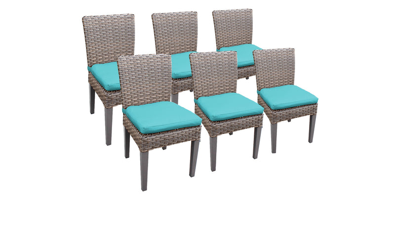 6 Florence Armless Dining Chairs