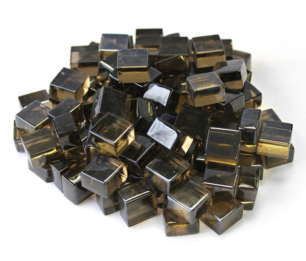 Bronze 1/2 Reflective Fire Glass Cubes by Gooddegg