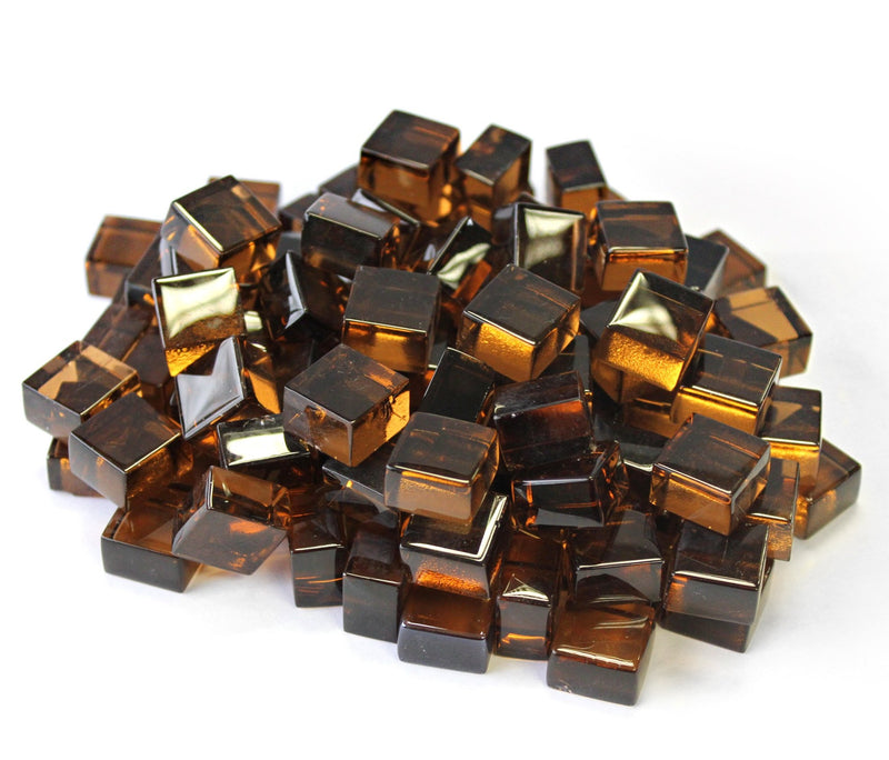 Copper 1/2 Reflective Fire Glass Cubes by Gooddegg