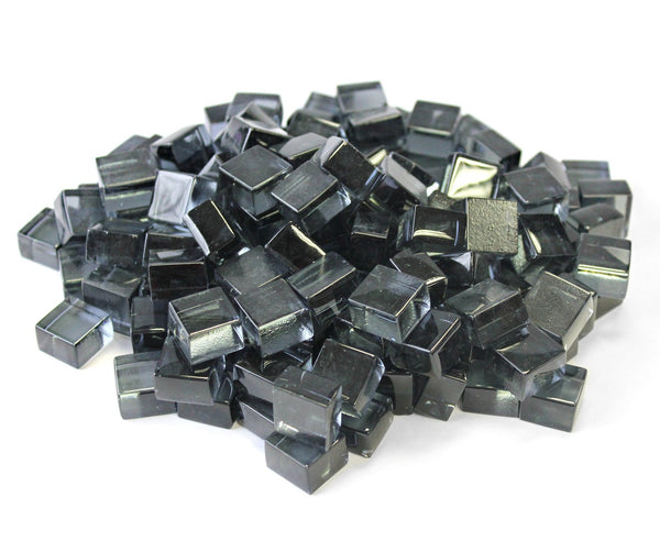 Grey 1/2 Reflective Fire Glass Cubes by Gooddegg