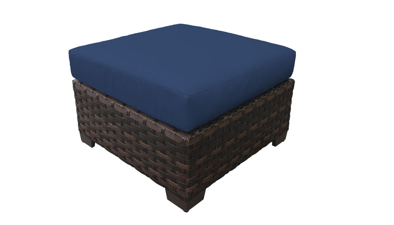 Kathy Ireland River Brook Ottoman with Cushion