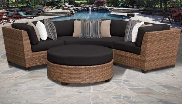 Laguna 4 Piece Outdoor Wicker Patio Furniture Set 04a