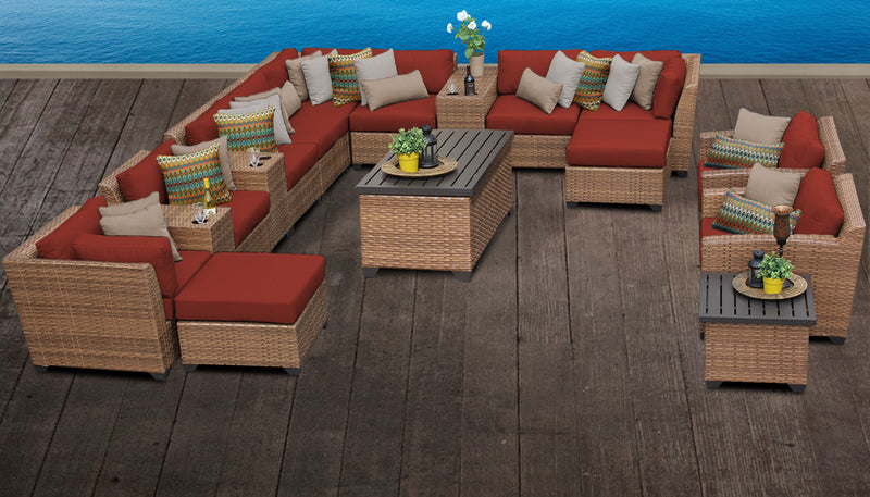 Laguna 17 Piece Outdoor Wicker Patio Furniture Set 17a