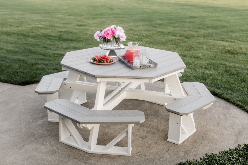 Octagon Picnic Table - 2 Tone by Wildridge