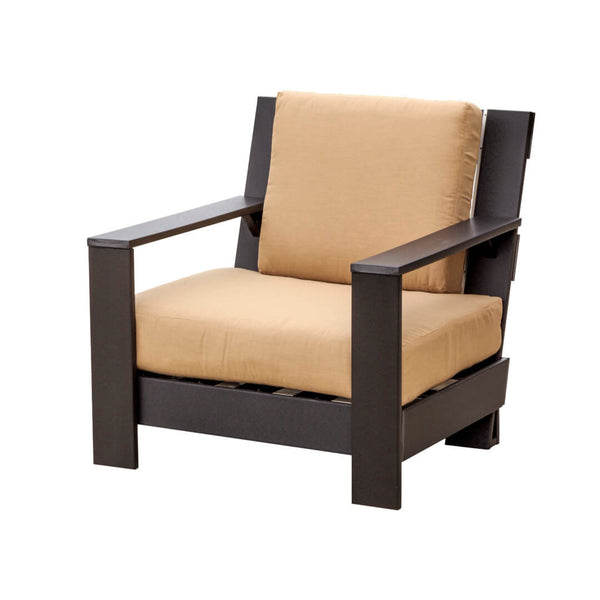 Outdoor Contemporary Deep Seat Side Chair with Cushions by Wildridge
