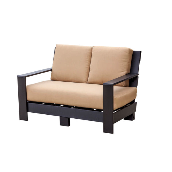 Outdoor Contemporary Deep Seat Loveseat with Cushions by Wildridge