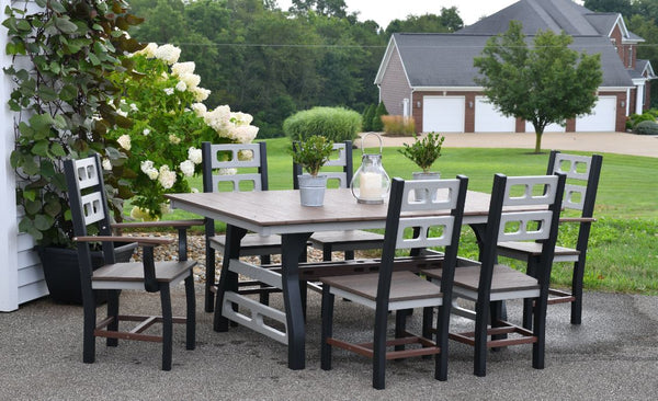 David Lewis 7 Piece Manhattan Forge 72 inch Dining Table Set with 6 Chairs by Wildridge