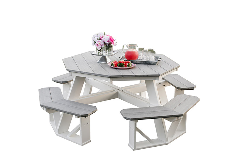 Heritage Octagon Picnic Table - 2 Tone by Wildridge