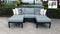 Kathy Ireland Homes & Gardens Madison Ave. 5 Piece Outdoor Aluminum Patio Furniture Set 05e