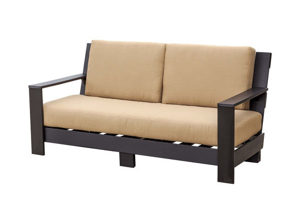 "Outdoor Contemporary Deep Seat 69"" Wide Sofa with Cushions by Wildridge"