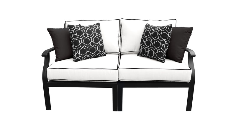 Kathy Ireland Homes & Gardens Madison Ave. 2 Piece Outdoor Aluminum Patio Furniture Set 02a