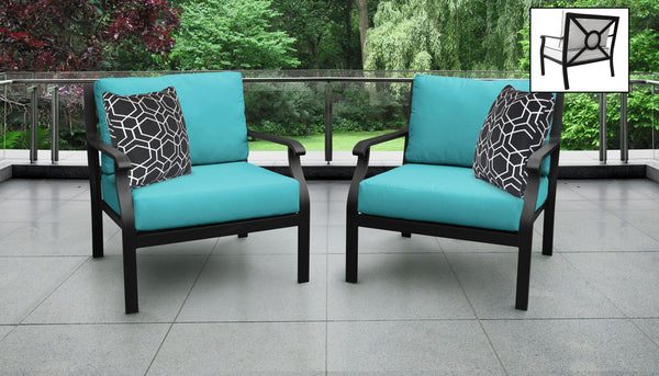 Kathy Ireland Homes & Gardens Madison Ave. 2 Piece Outdoor Aluminum Patio Furniture Set 02b