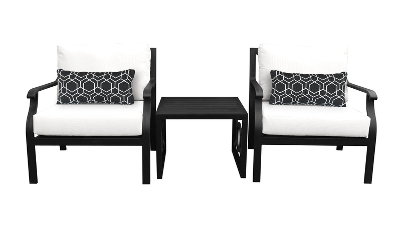 Kathy Ireland Homes & Gardens Madison Ave. 3 Piece Outdoor Aluminum Patio Furniture Set 03a