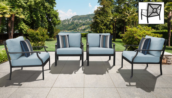 Kathy Ireland Homes & Gardens Madison Ave. 4 Piece Outdoor Aluminum Patio Furniture Set 04g
