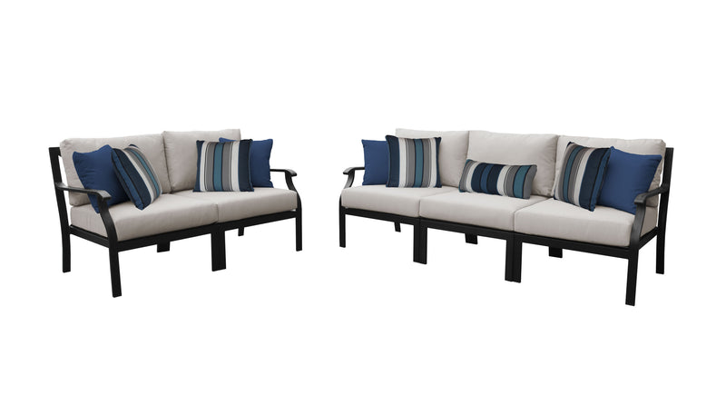 Kathy Ireland Homes & Gardens Madison Ave. 5 Piece Outdoor Aluminum Patio Furniture Set 05a
