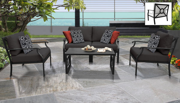 Kathy Ireland Homes & Gardens Madison Ave. 5 Piece Outdoor Aluminum Patio Furniture Set 05c