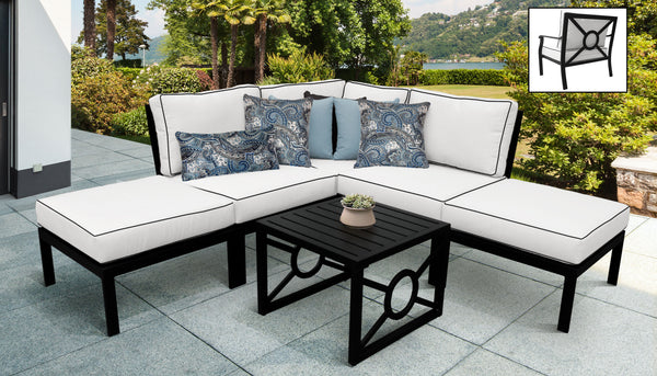 Kathy Ireland Homes & Gardens Madison Ave. 6 Piece Outdoor Aluminum Patio Furniture Set 06b