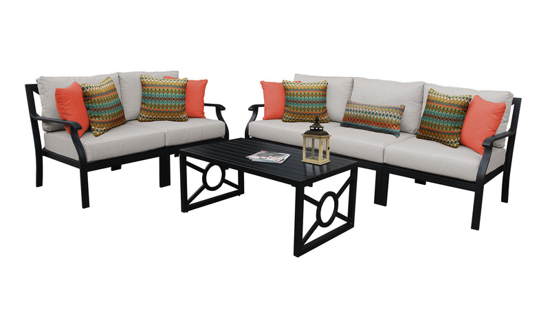 Kathy Ireland Homes & Gardens Madison Ave. 6 Piece Outdoor Aluminum Patio Furniture Set 06m
