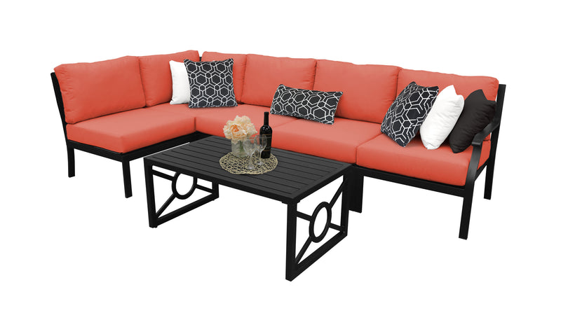 Kathy Ireland Homes & Gardens Madison Ave. 6 Piece Outdoor Aluminum Patio Furniture Set 06q