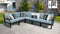 Kathy Ireland Homes & Gardens Madison Ave. 6 Piece Outdoor Aluminum Patio Furniture Set 06v